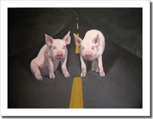 Pigs in the Road